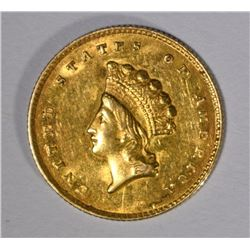 1855-O $1 T-2 INDIAN PRINCESS HEAD GOLD - CHOICE BU Small Rev. Mark