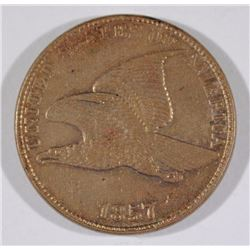 1857 FLYING EAGLE CENT - CHOICE BU