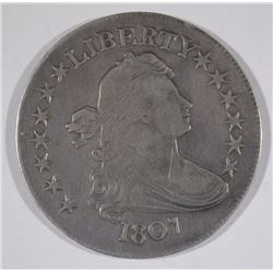 1807 DRAPED BUST HALF DOLLAR - XF
