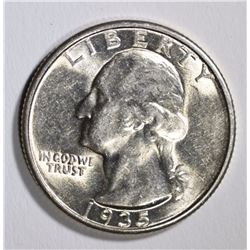 1935-D WASHINGTON QUARTER, BU
