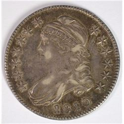 1810  BUST HALF DOLLAR, AU+  NICE EARLY DATE