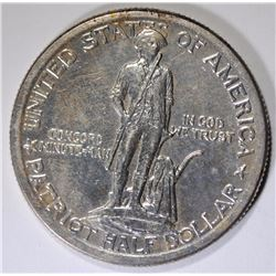 1925 LEXINGTON COMMEMORATIVE HALF DOLLAR, CHOICE BU