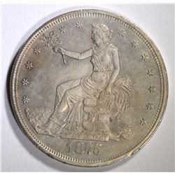 1875-CC TRADE DOLLAR, AU/BU SCARCE