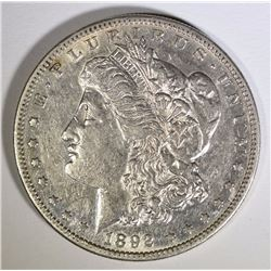 1892-S MORGAN SILVER DOLLAR, XF/AU  SCARCE