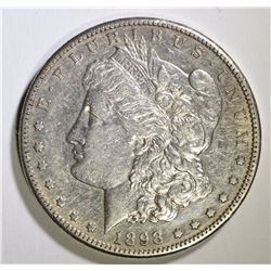 1898-S MORGAN SILVER DOLLAR, AU