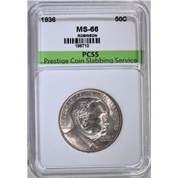 1936 ROBINSON COMMEMORATIVE HALF DOLLAR, PCSS SUPERB GEM BU