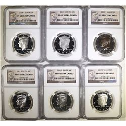 NGC GRADED PF-69 ULTRA CAMEO SILVER KENNEDY HALF DOLLAR LOT: SEE DESCRIPTION