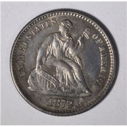 1872 SEATED LIBERTY HALF DIME BU