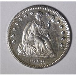 1858 PROOF SEATED LIBERTY HALF DIME CH PF+