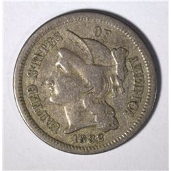 1882 3 CENT NICKEL XF