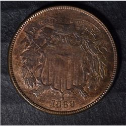 1869 2 CENT PIECE BU WEAK STRIKE
