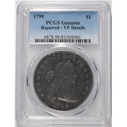 1799 BUST DOLLAR, PCGS VF  DETAILS ( REPAIRED )