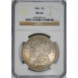 1886 MORGAN DOLLAR NGC MS-64