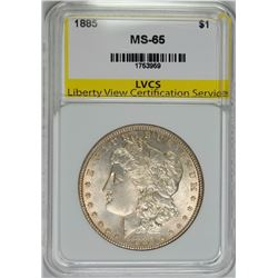 1885 MORGAN SILVER DOLLAR LVCS GEM BU