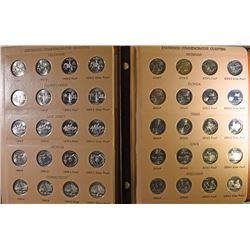 COMPLETE STATE QUARTER SET 1999-2008 IN 2 DANSCO ALBUMS BU+PROOF WITH ALL SILVER