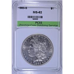 1883-S MORGAN SILVER DOLLAR, PCSS CHOICE BU