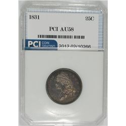 1831 BUST QUARTER, PCI AU/UNC  NICE TYPE COIN