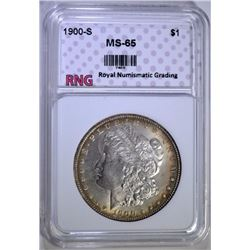 1900-S MORGAN SILVER DOLLAR RNG GEM BU