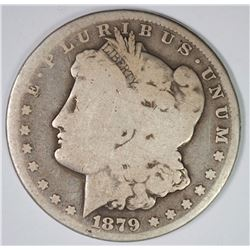 1879-CC MORGAN SILVER DOLLAR, AG/GOOD  KEY COIN