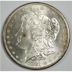 1881-S MORGAN SILVER DOLLAR, CHOICE BU+  FLASHY & SEMI-PL