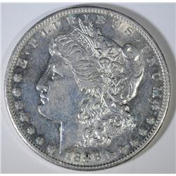 1886-S MORGAN SILVER DOLLAR, AU  SEMI-KEY