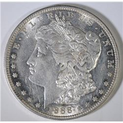 1888-S MORGAN SILVER DOLLAR, CHOICE BU  SEMI-KEY