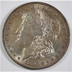 1893 MORGAN SILVER DOLLAR, AU/BU