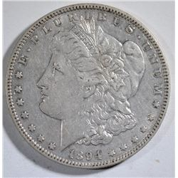 1894-O MORGAN SILVER DOLLAR,  AU