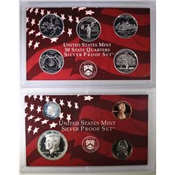 1999 UNITED STATES MINT SILVER PROOF SET  BOX/COA