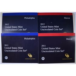 2011 & 2012 U.S. MINT SETS - ORIGINAL PACKAGING