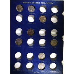 PARTIAL BUFFALO NICKEL SET - 42 DIFFERENT NICE COINS in WHITMAN