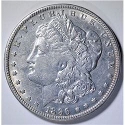 1896-O MORGAN SILVER DOLLAR, AU