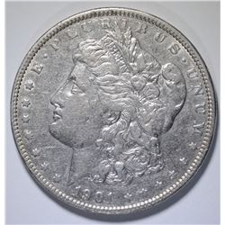 1901 MORGAN SILVER DOLLAR, XF/AU