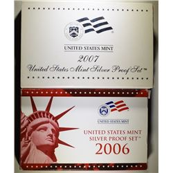 2006 & 2007 U.S. SILVER PROOF SETS IN ORIGINAL PACKAGING
