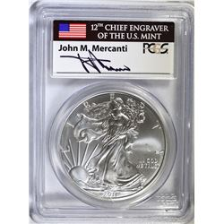 2011 25th ANNIVERSARY AMERICAN SILVER EAGLE, PCGS MS-70  FIRST STRIKE