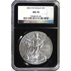 2012-W AMERICAN SILVER EAGLE, NGC MS-70