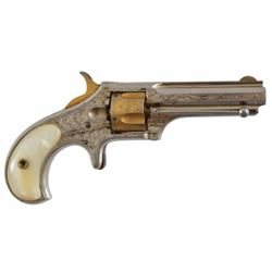 Engraved Remington Smoot .30RF Revolver Serial no. 1885 .30 rimfire factory or New York engraved in
