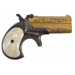 Engraved Remington O/U Derringer Antique .41 rimfire.  factory or New York engraved in good working