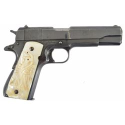 Colt 1911 Government Model.45 Serial no. C226832 with mother of pearl Mexican eagle grips.