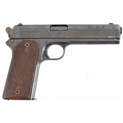 Colt Model 1905 .45 Auto Serial no. 2942  .45 auto finish loss throughout. checkered wood grips