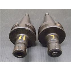 BT40 Command ER16 Collet Chucks, 2 Total