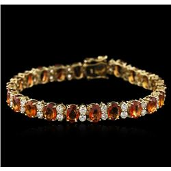 14KT Yellow Gold 16.75 ctw Yellow Sapphire and Diamond Bracelet