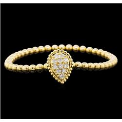 0.62 ctw Diamond Bracelet - 14KT Yellow Gold
