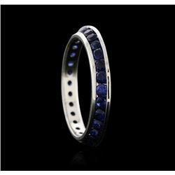 14KT White Gold 1.53 ctw Sapphire Ring