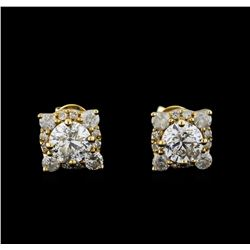 14KT Yellow Gold 1.62 ctw Diamond Earrings