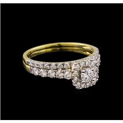 1.00 ctw Diamond Wedding Ring Set - 14KT Yellow Gold