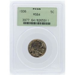 1936 PCGS MS64 Buffalo Nickel