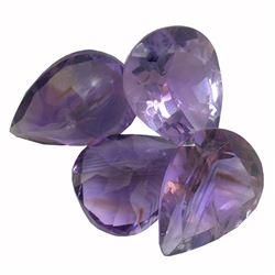 29.52 ctw Pear Mixed Amethyst Parcel