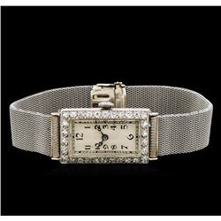 Ladies Vintage Platinum 0.52 ctw Diamond Watch