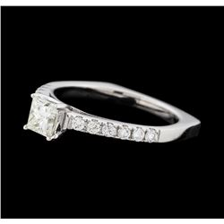 0.71 ctw Diamond Ring - 14KT White Gold